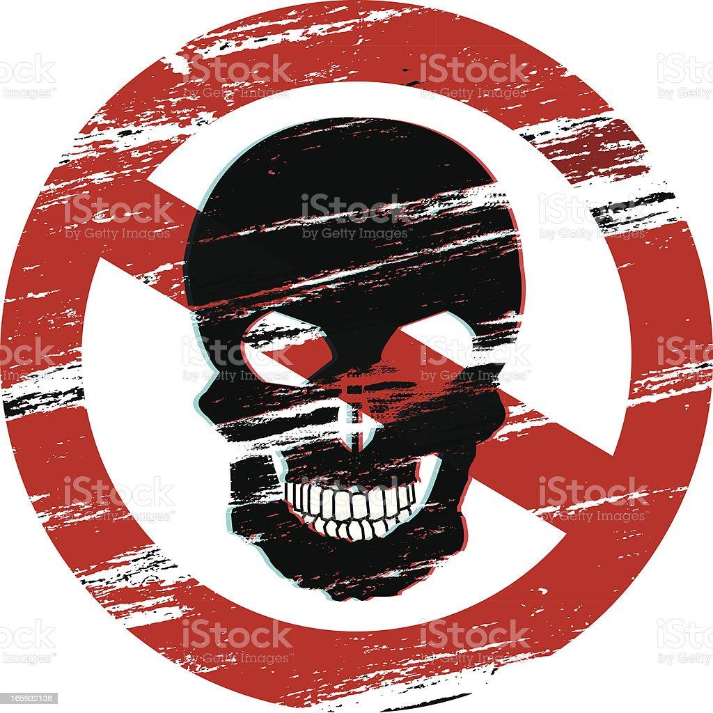 No Skull Warning Symbol royalty-free stock vector art