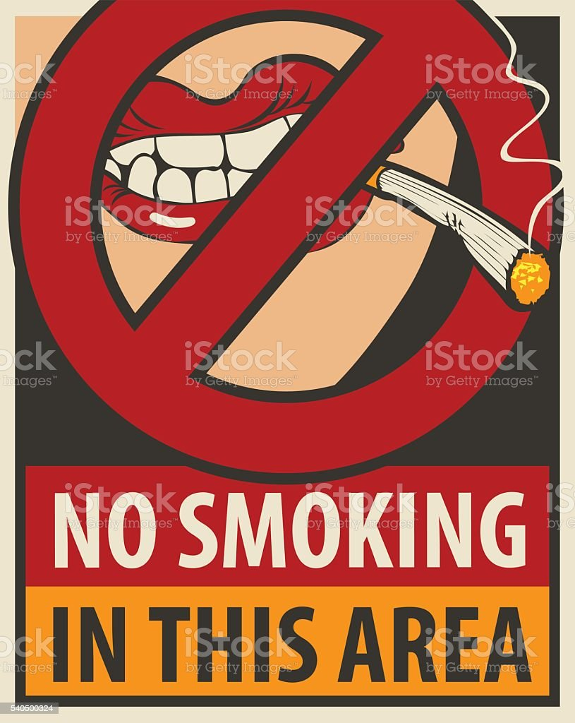 no smoking in this area vector art illustration