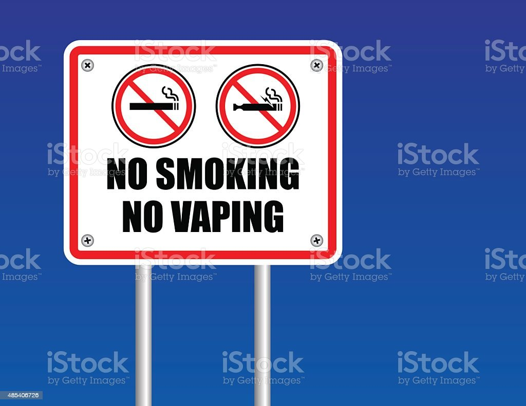No smoking No Vaping sign vector art illustration