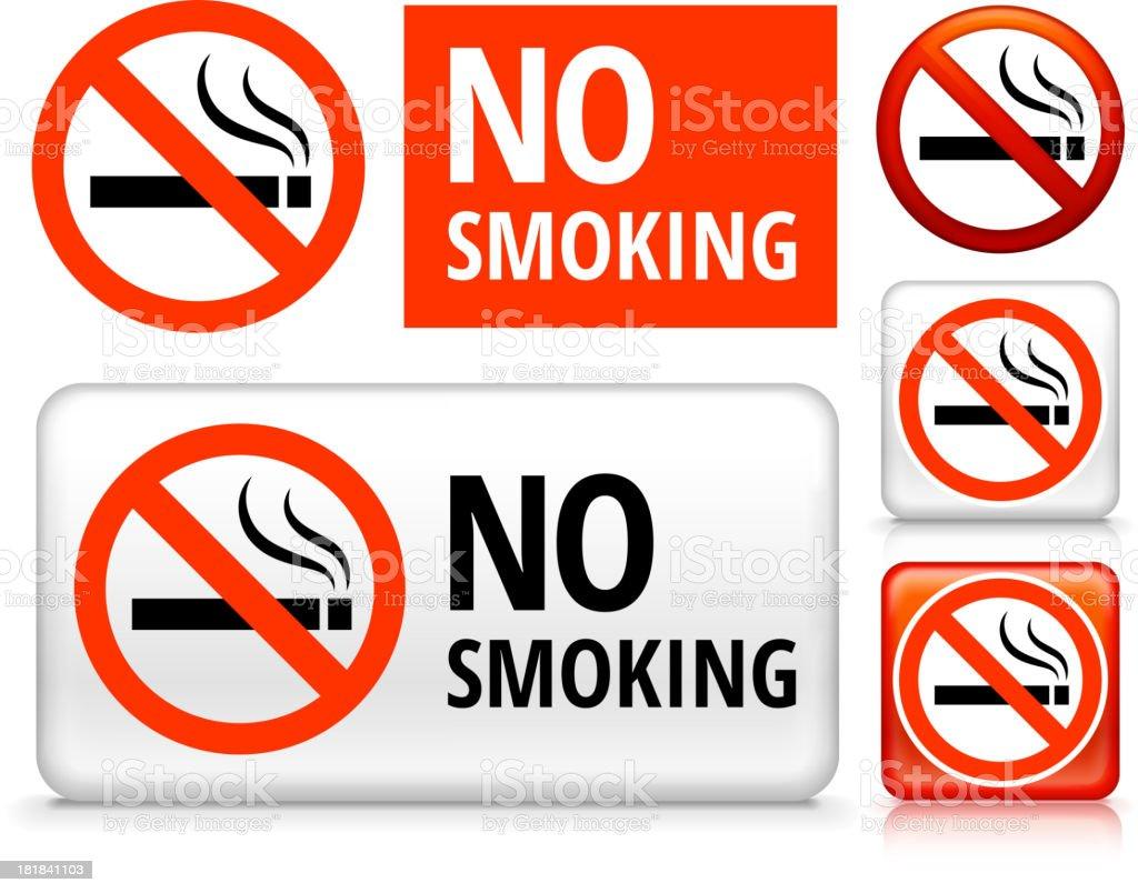 No Smoking royalty free vector art Buttons royalty-free stock vector art