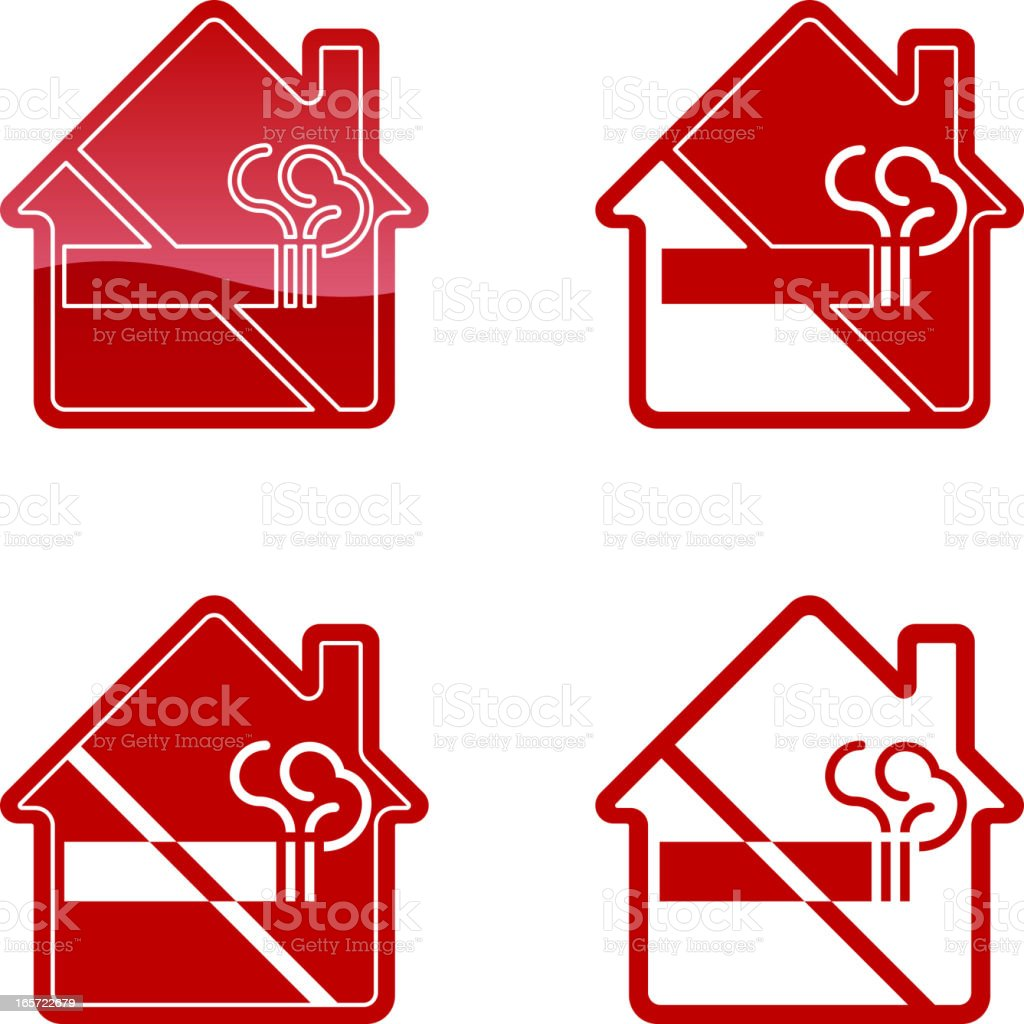 No Smoking Sign - Home royalty-free stock vector art
