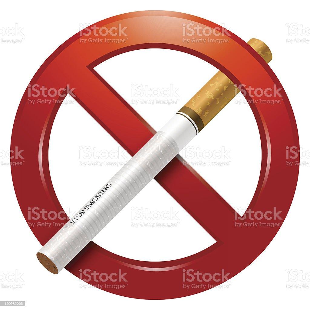 No Smoking Sign royalty-free stock vector art