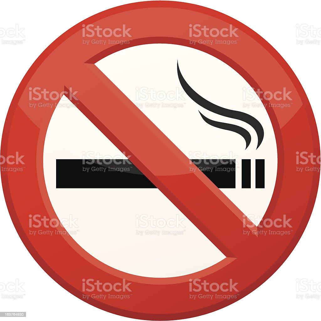 'No Smoking' sign vector art illustration