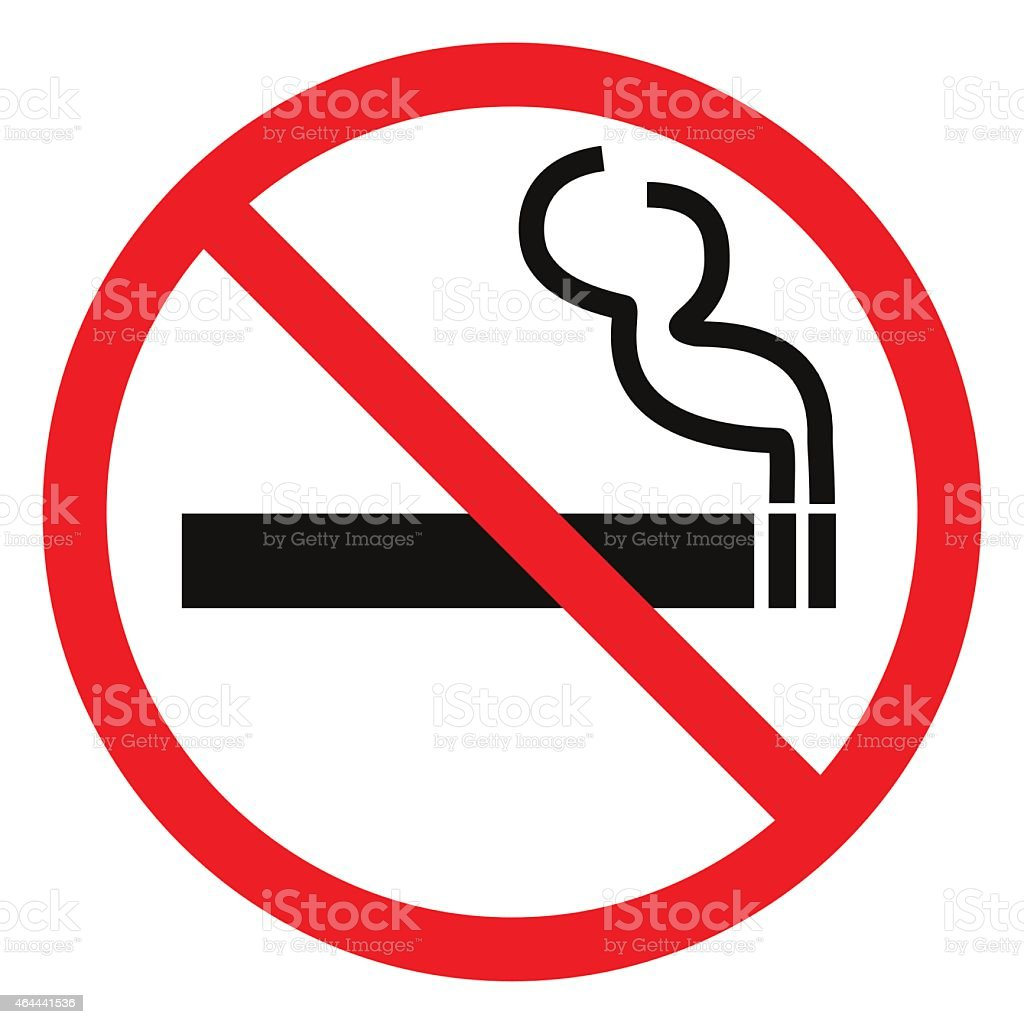 No smoking sign. vector art illustration