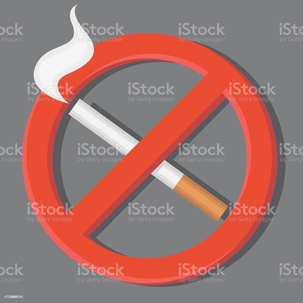 No smoking sign. Знак не курить. vector art illustration