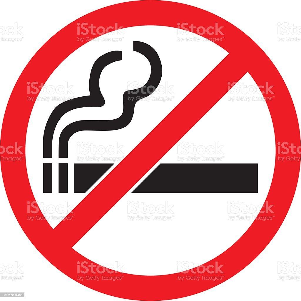 No Smoking Sign vector art illustration
