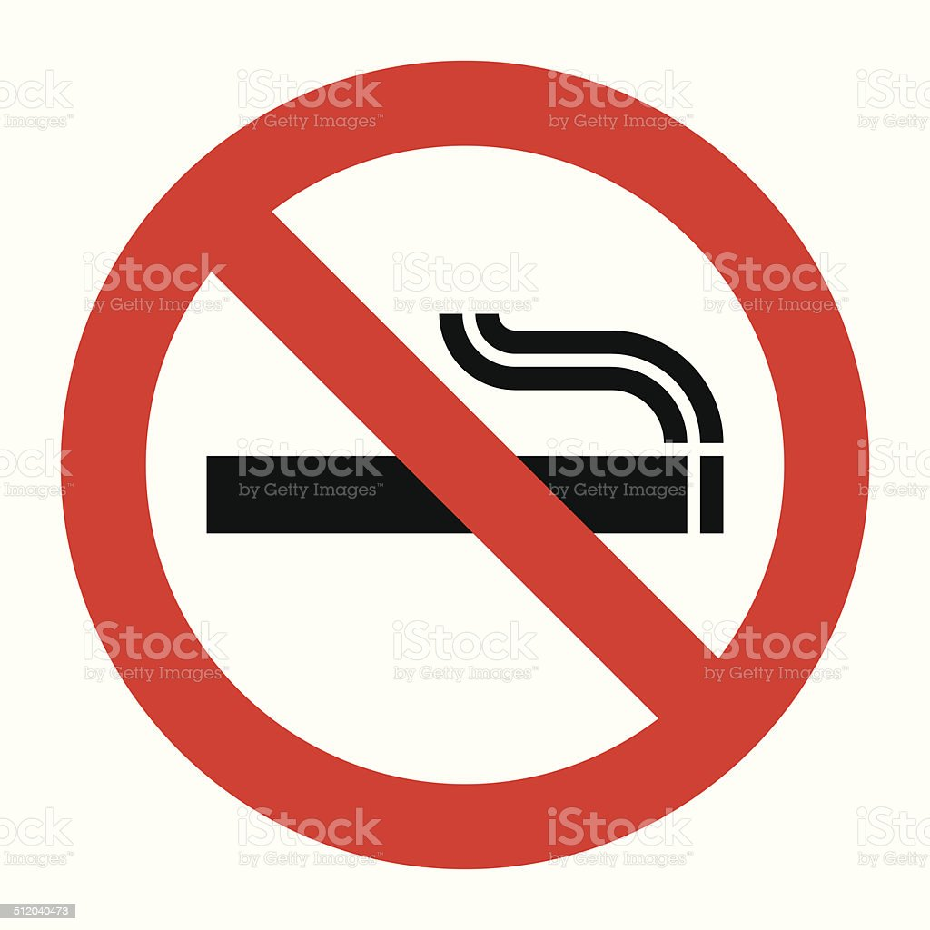 No smoking sign vector art illustration