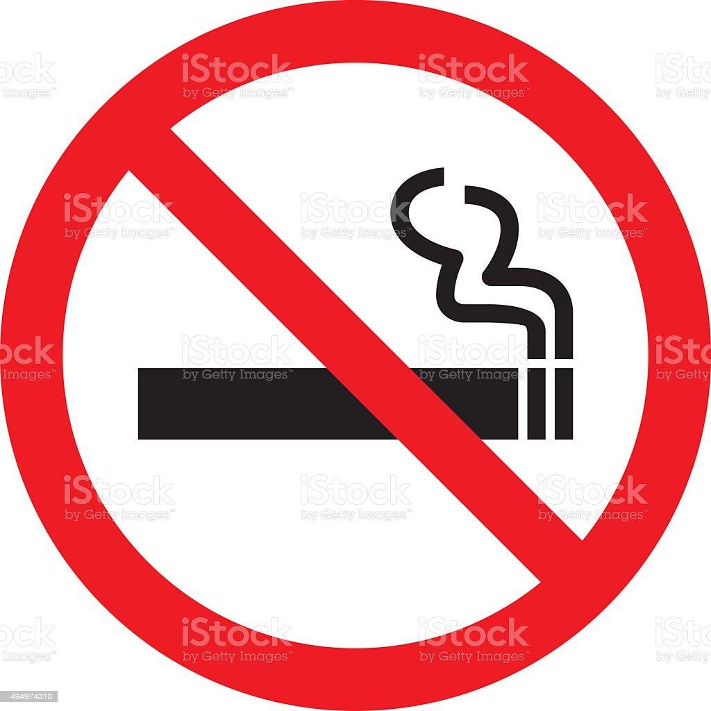 No smoking sign. Vector illustration vector art illustration