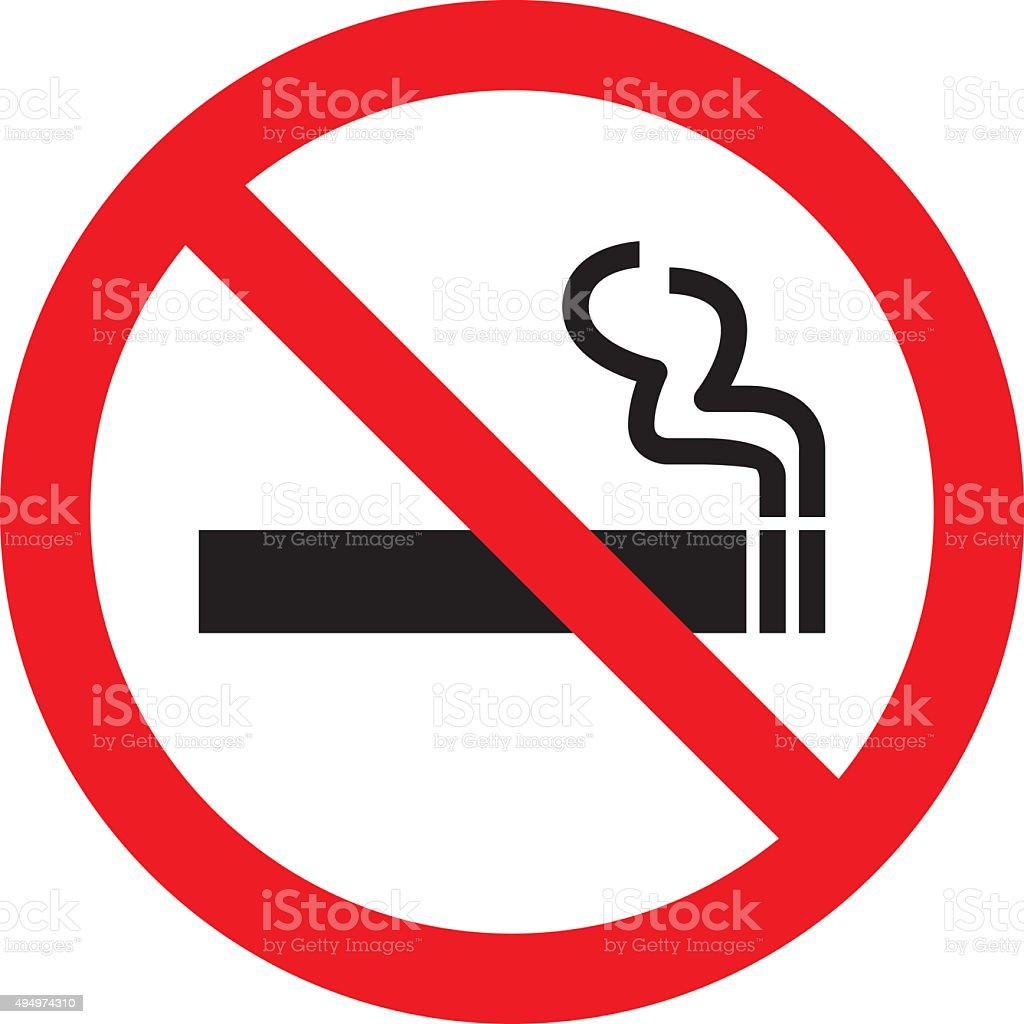 No smoking sign. Vector illustration vector art illustration