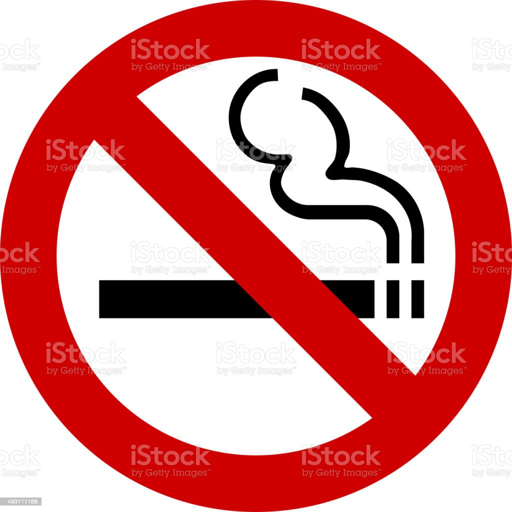 no smoking sign vector vector art illustration