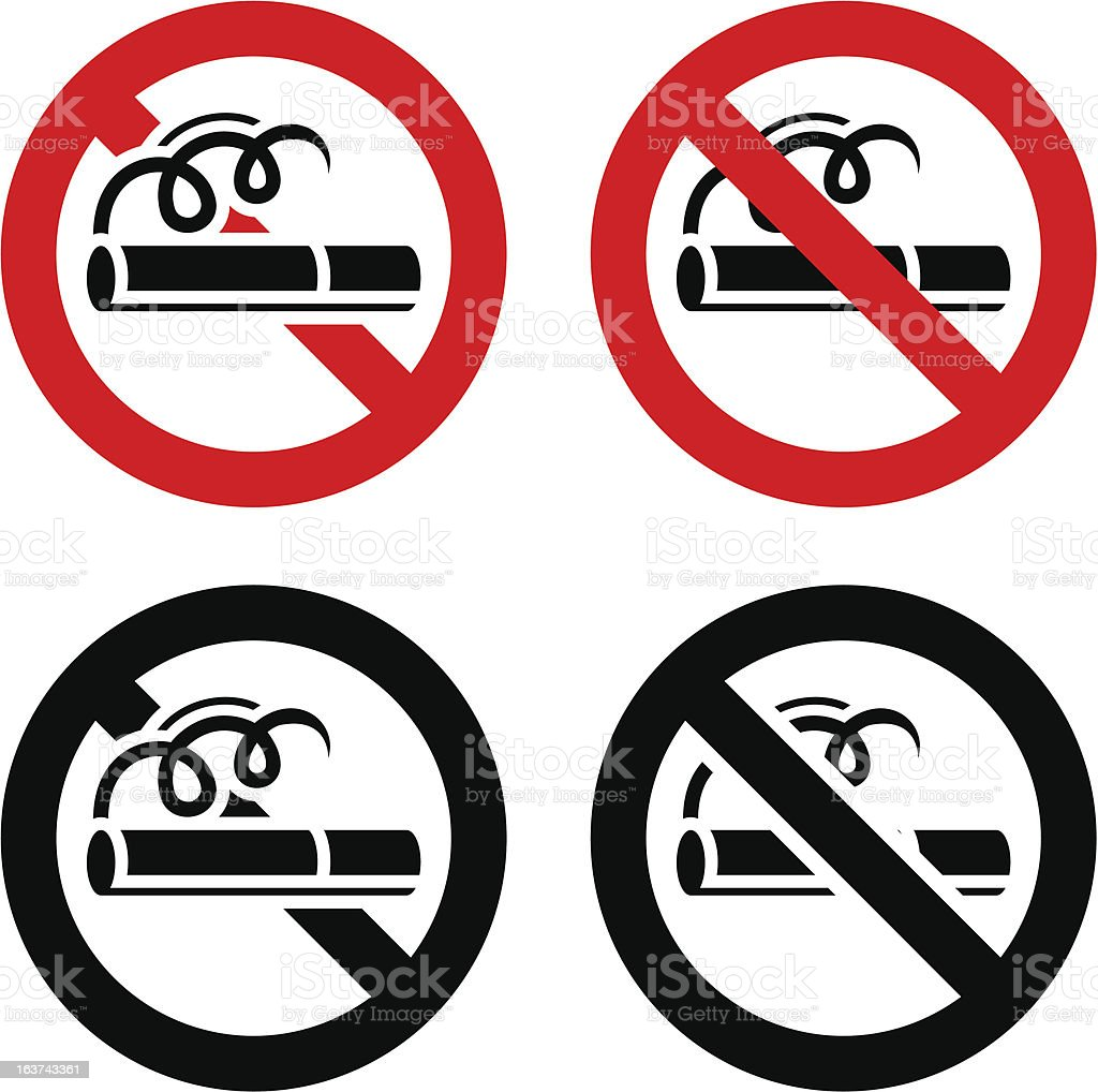 No smoking, signs royalty-free stock vector art