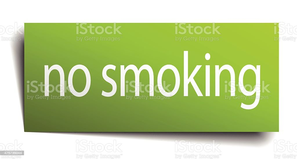 no smoking square paper sign isolated on white vector art illustration