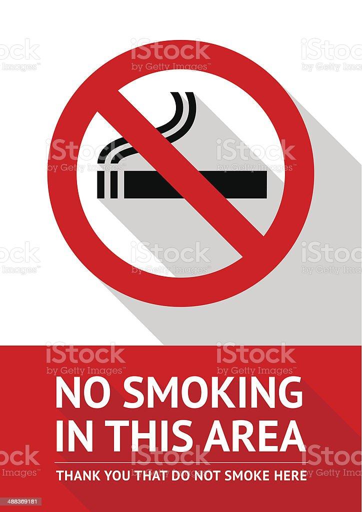 Не курить, плоский дизайн стикер векторная иллюстрация