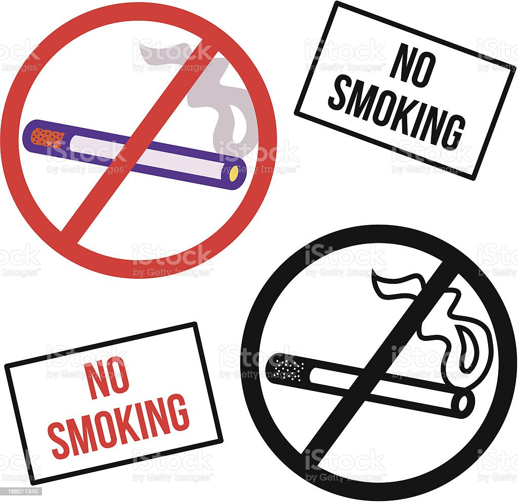 no smoking symbol and sign royalty-free stock vector art