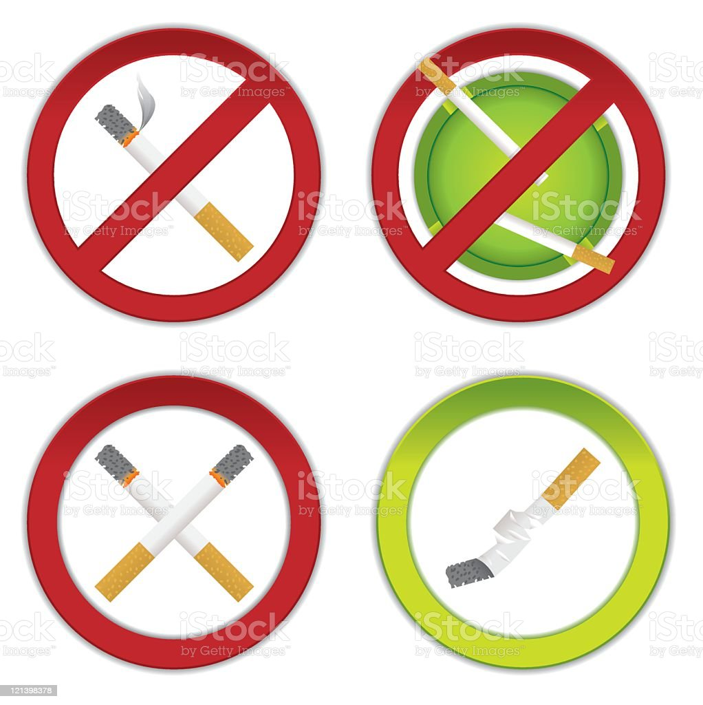 No Smoking royalty-free stock vector art