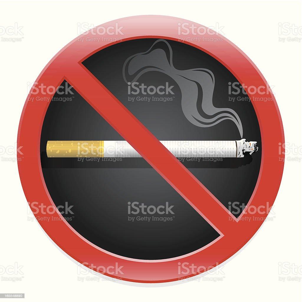 no smoking royalty-free stock vector art