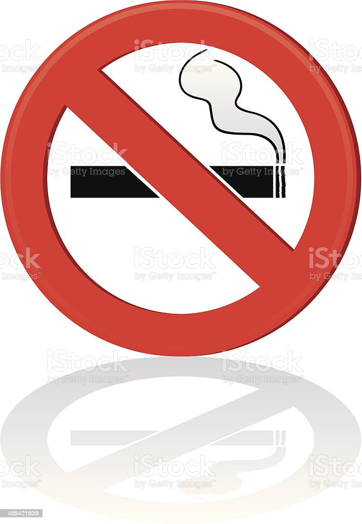 No Smoking! royalty-free stock vector art