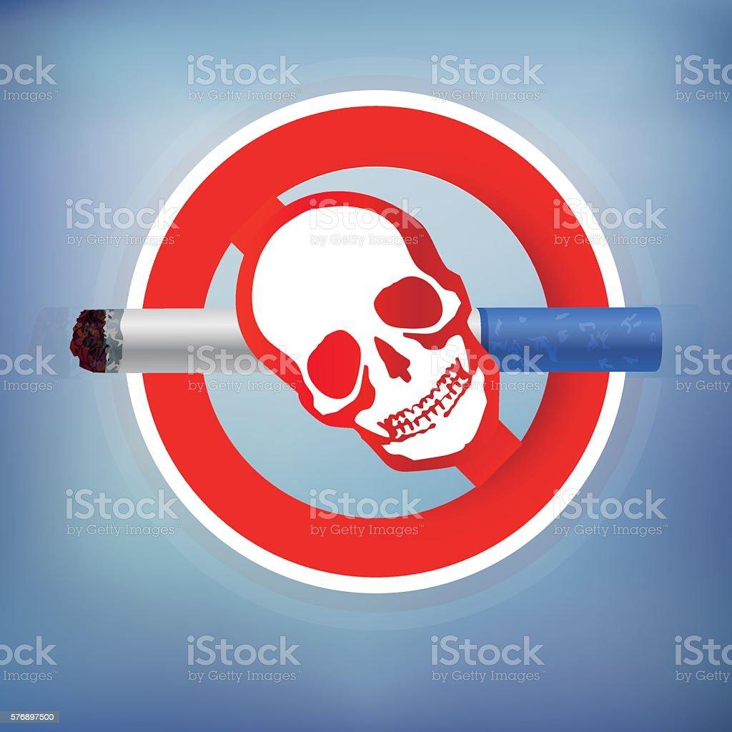 No smoking vector art illustration