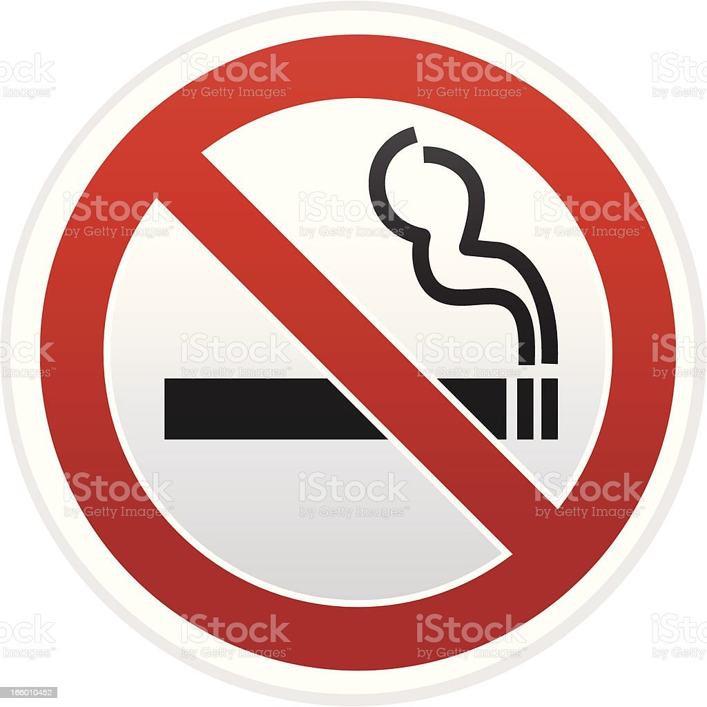 no smoking warning sign vector art illustration