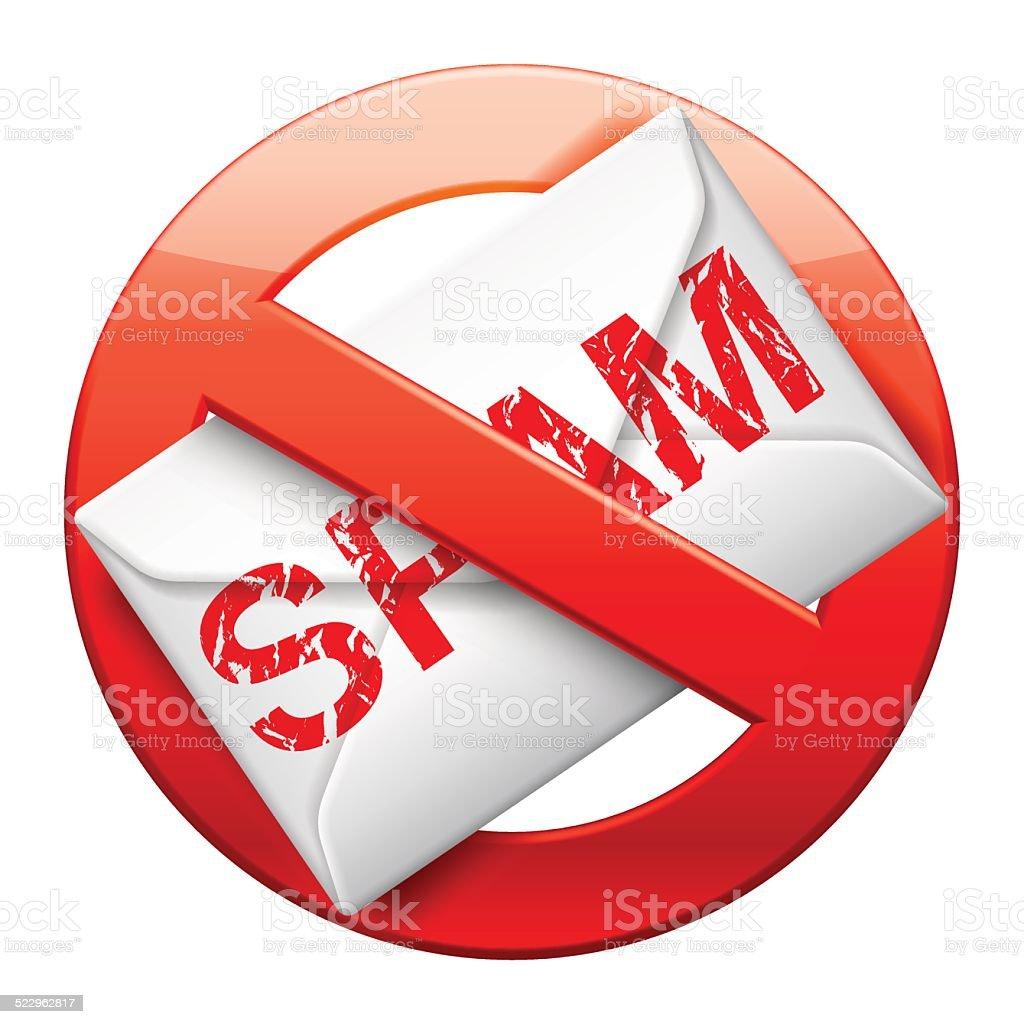 No spam sign. vector art illustration