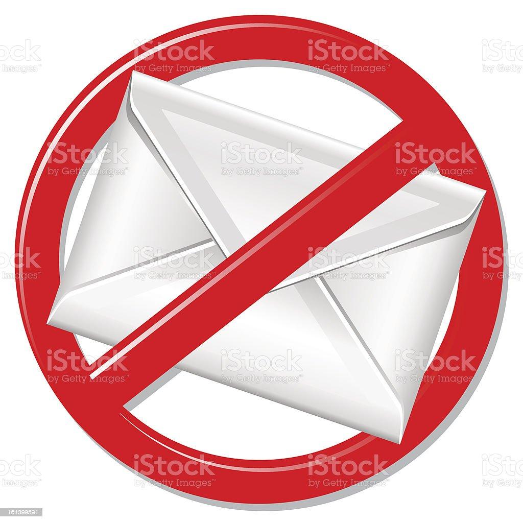no spam warning sign vector art illustration