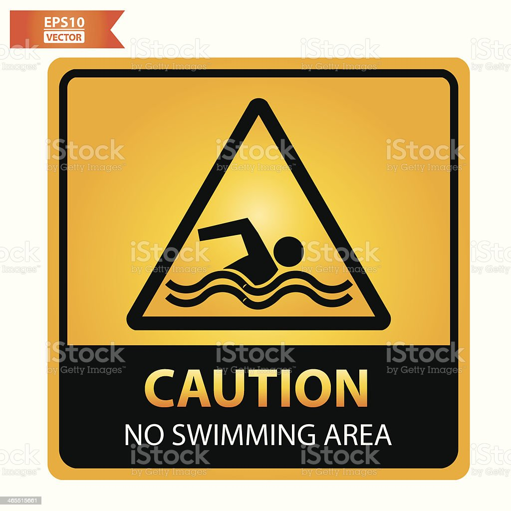 No swimming area sign. royalty-free stock vector art