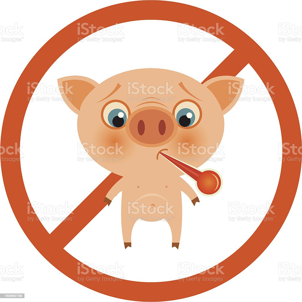 No Swine Flu! royalty-free stock vector art