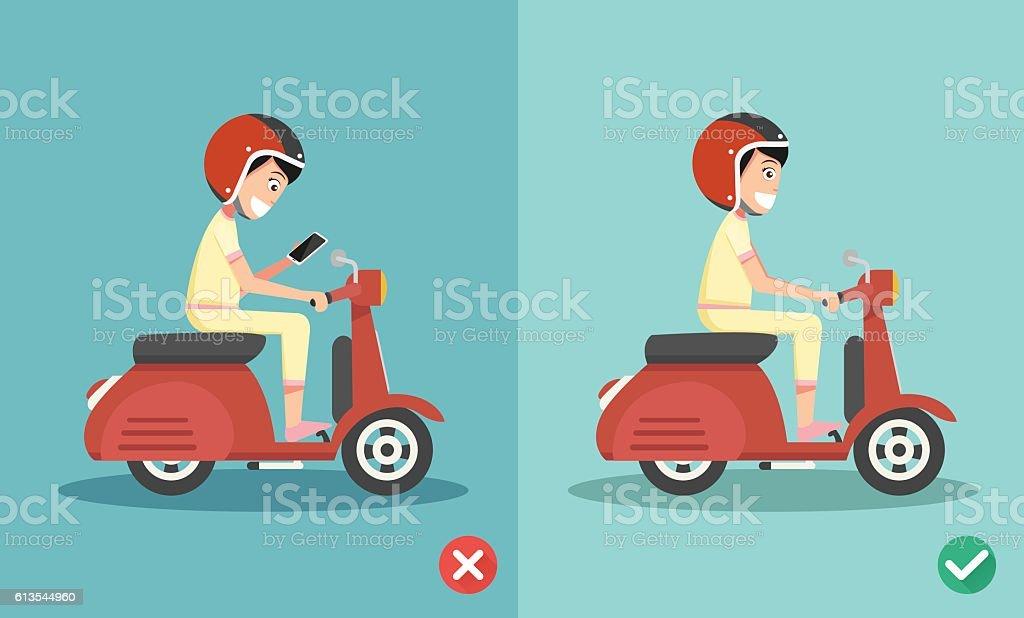 No texting ,No talking vector art illustration