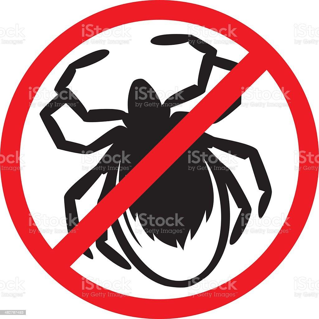 no ticks vector art illustration