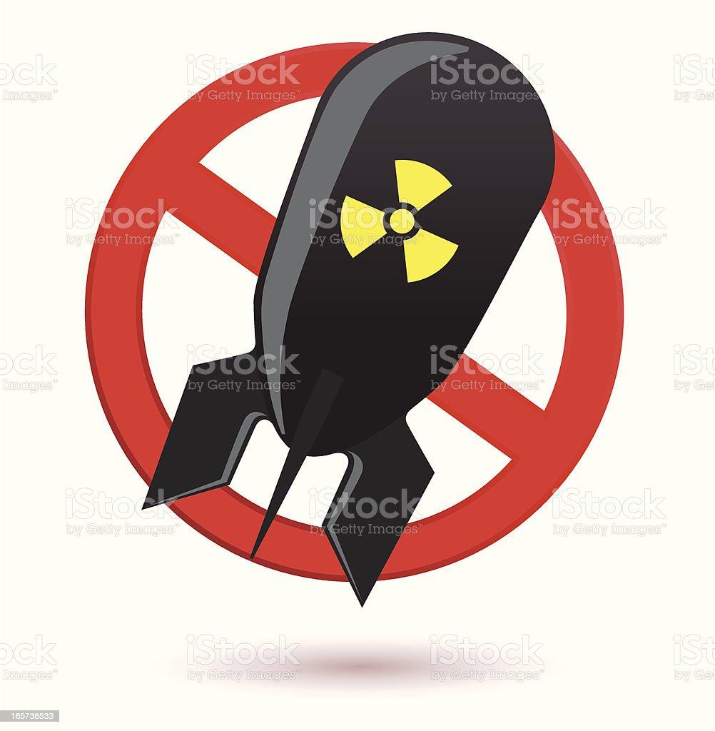 No to nukes vector art illustration