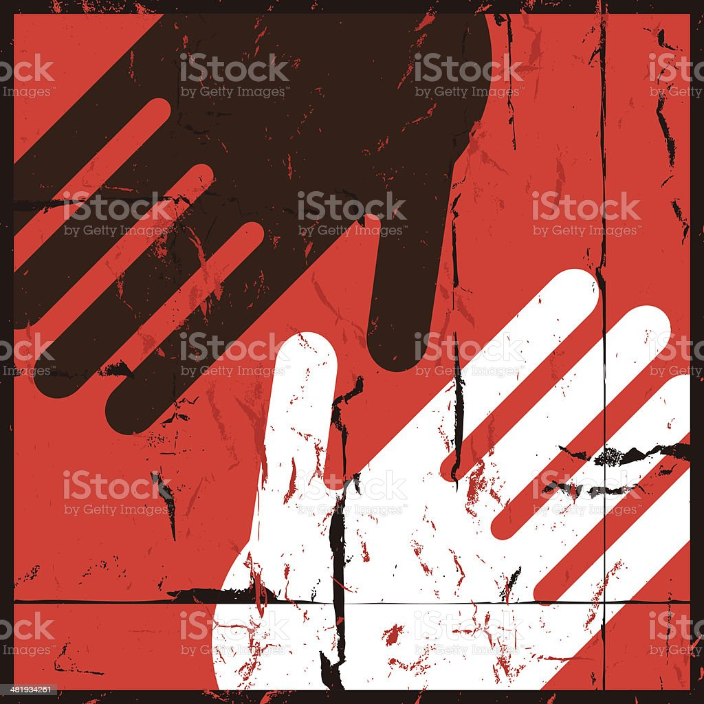No to racism vector art illustration