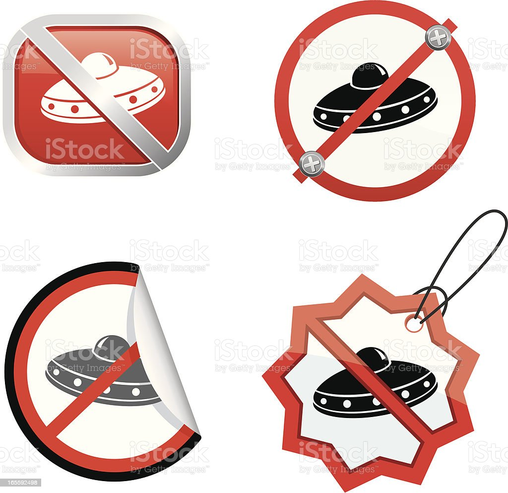 No ufos vector art illustration
