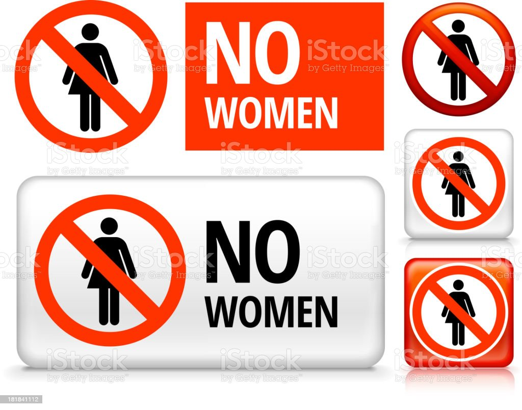 No Woman royalty free vector art Buttons royalty-free stock vector art