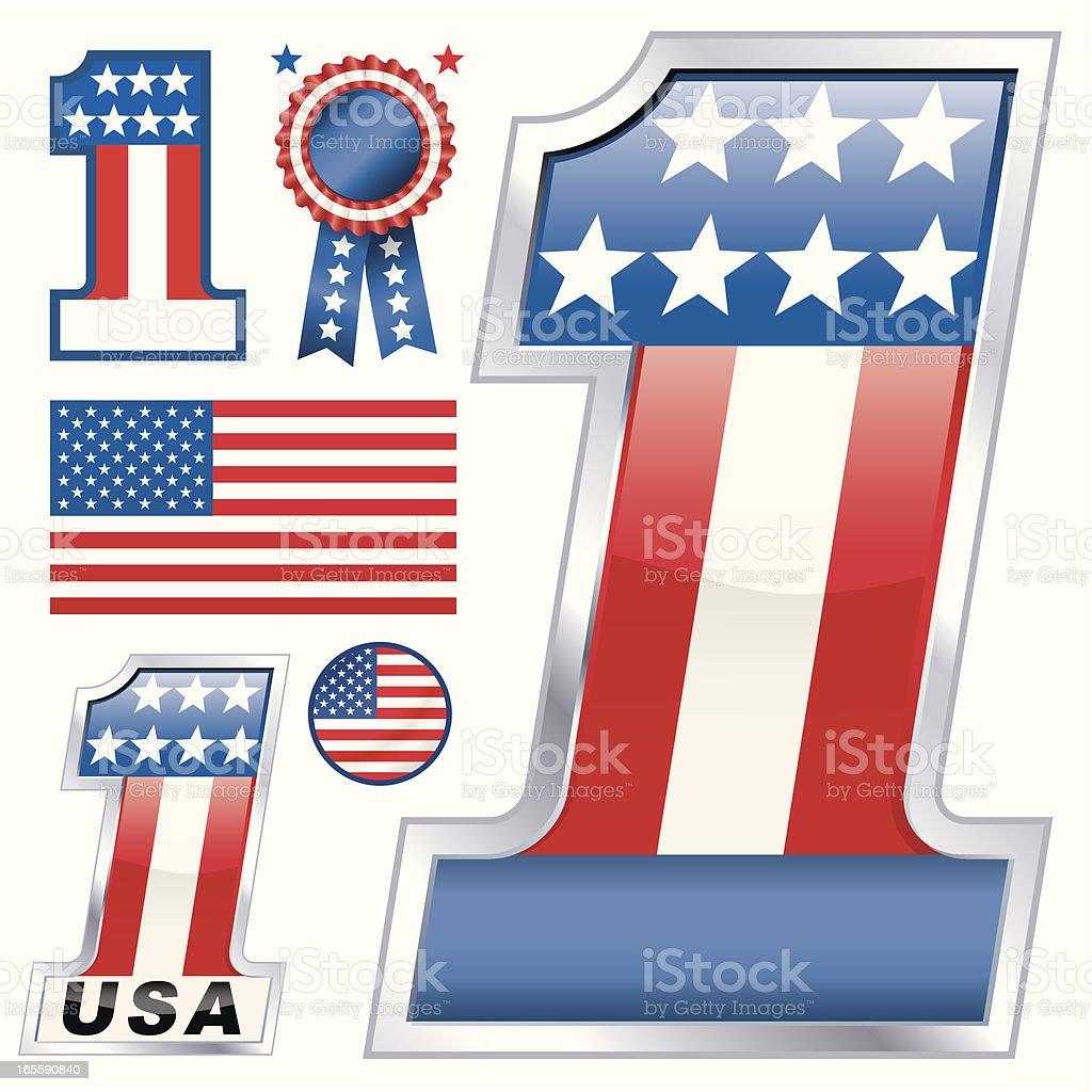 No1-USA royalty-free stock vector art