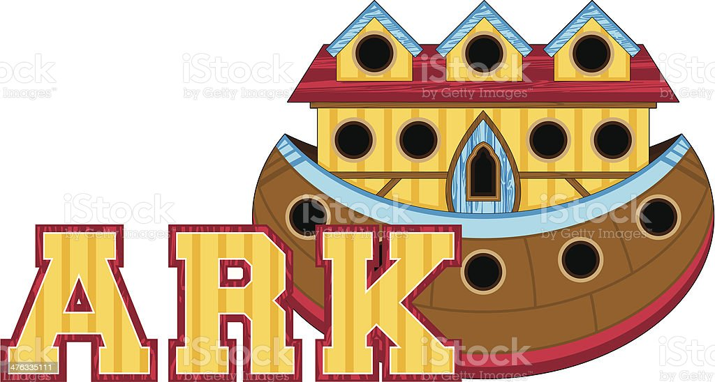 Noah's Ark Learn to Read Illustration royalty-free stock vector art
