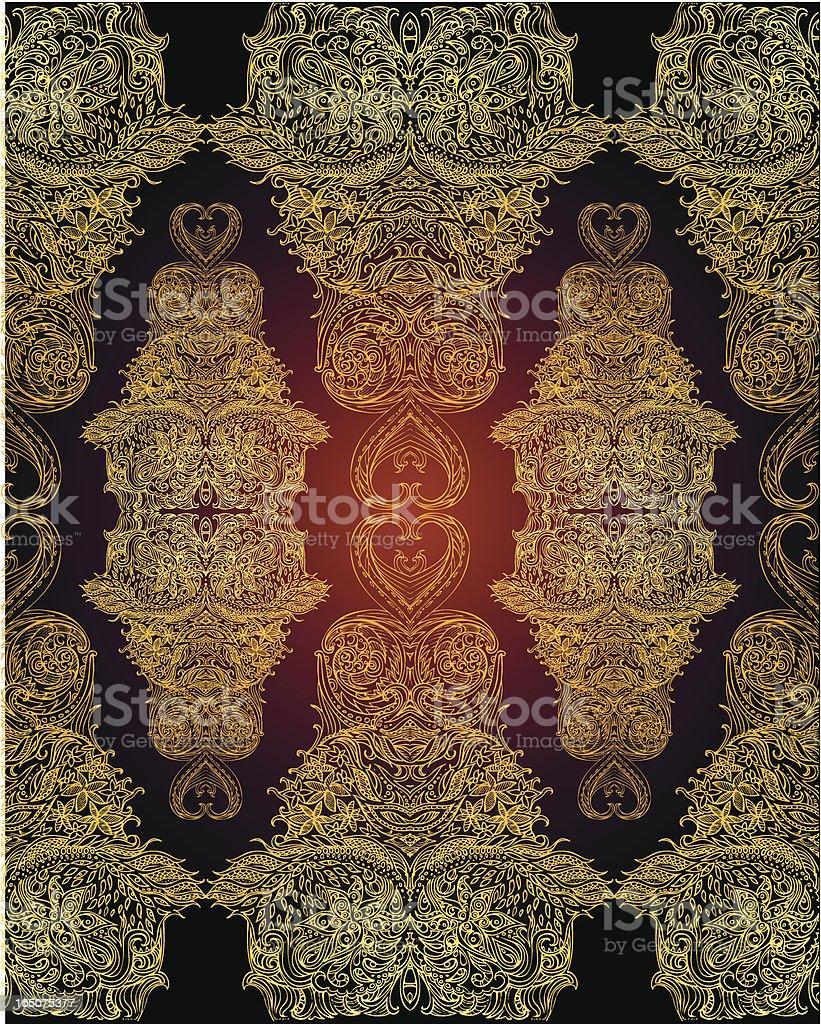 Nächtlicher eastern Muster Lizenzfreies vektor illustration