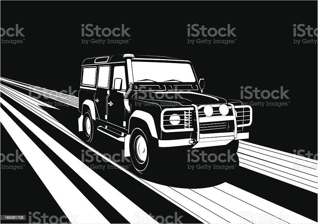 Noir car XIV royalty-free stock vector art