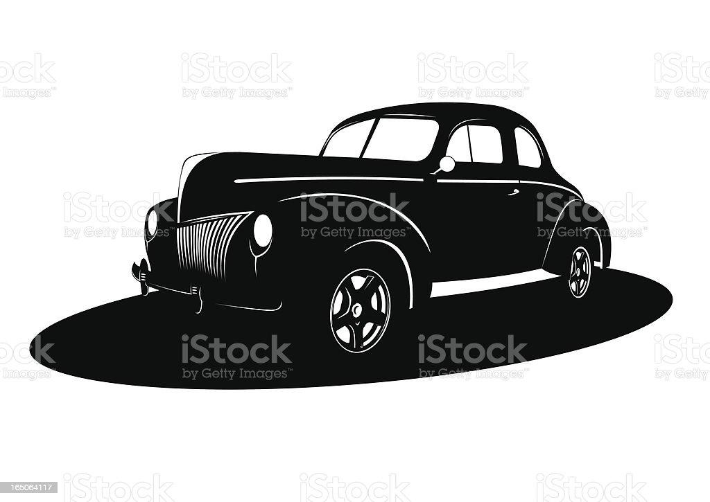 Noir car XIX royalty-free stock vector art
