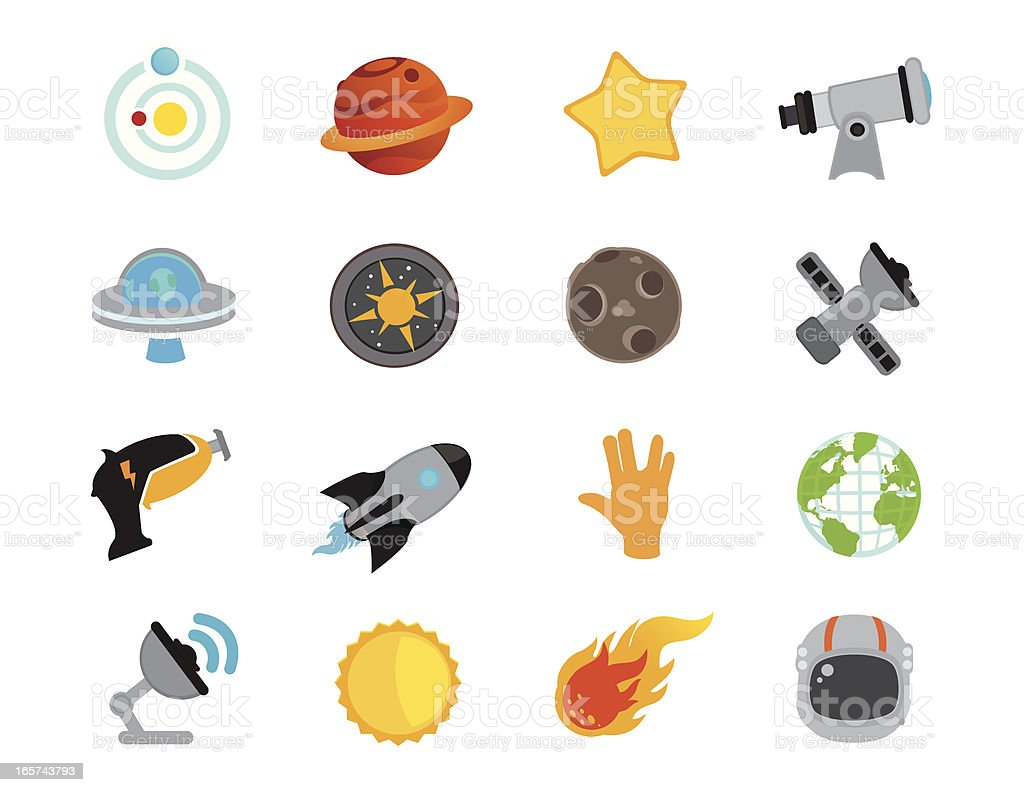 Noku Space Icons royalty-free stock vector art