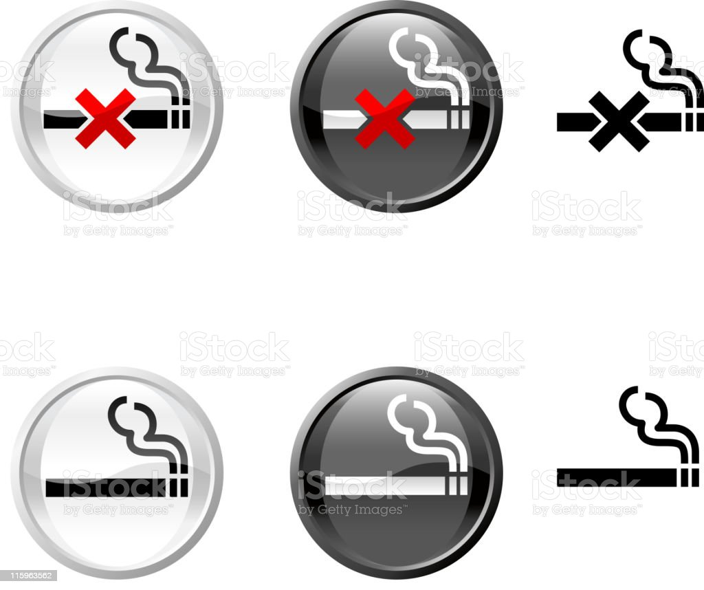 non smoking icon vector art illustration
