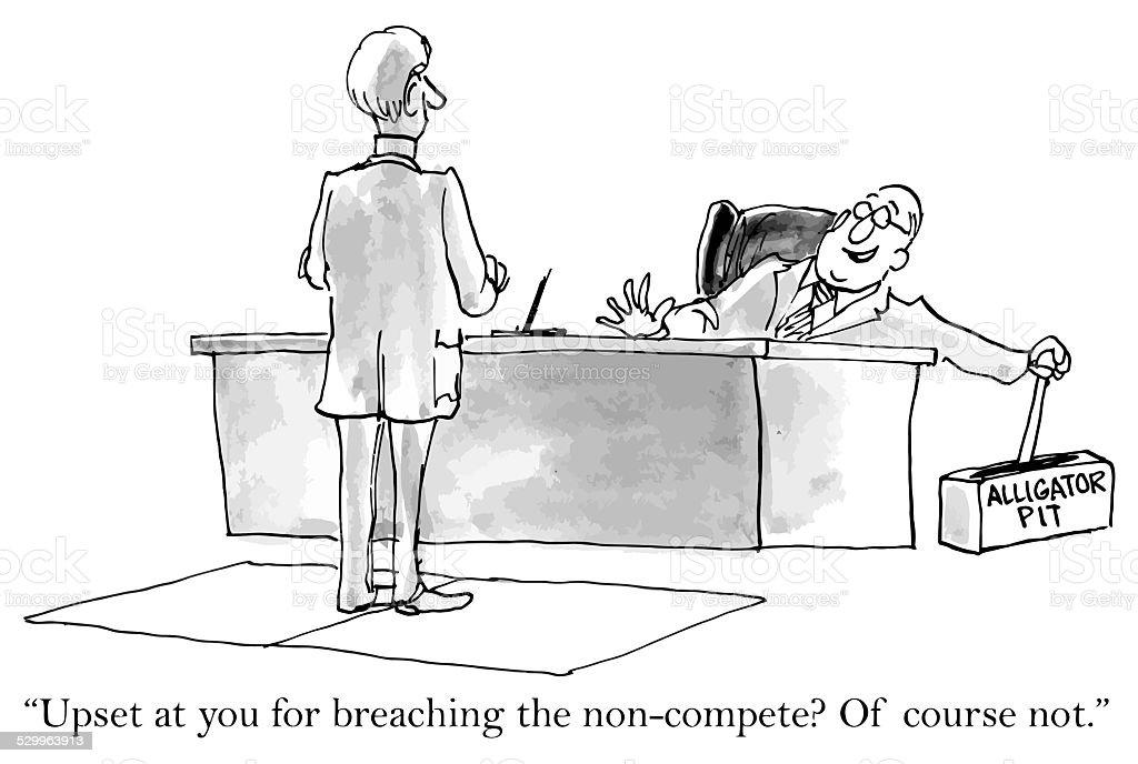 Non-Compete Agreement vector art illustration