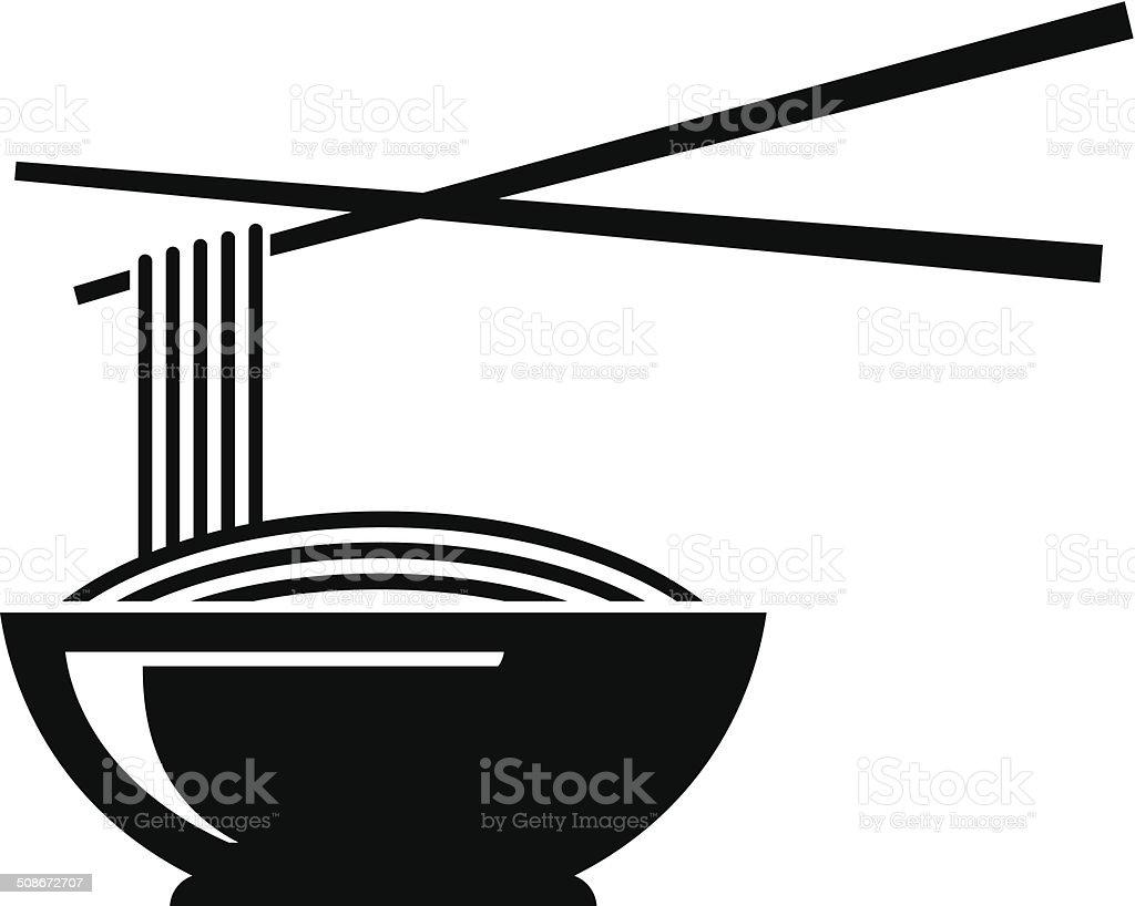 Noodle icon vector art illustration