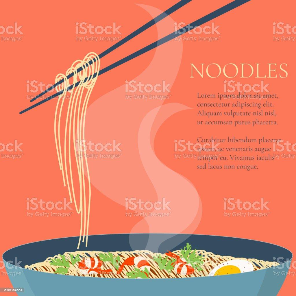 Noodles design template vector art illustration