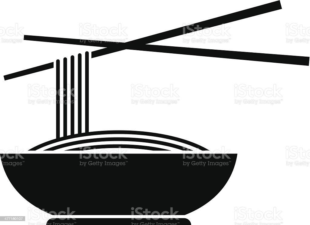 Noodles icon vector art illustration