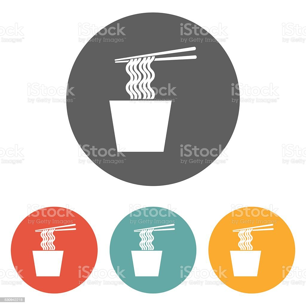 noodles icon vector art illustration