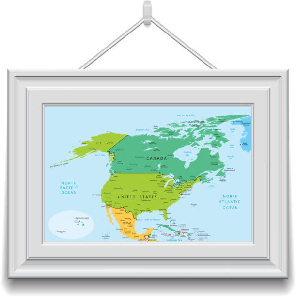 Border Wall Between America And Mexico Clip Art Vector Images - Us border wall map north america map