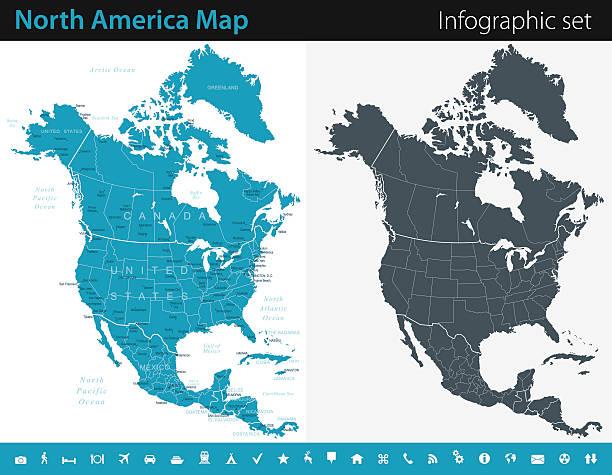 clipart map north america - photo #37