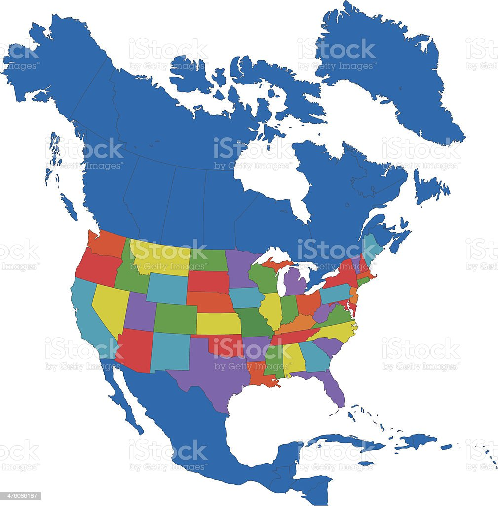 North America map royalty-free stock vector art