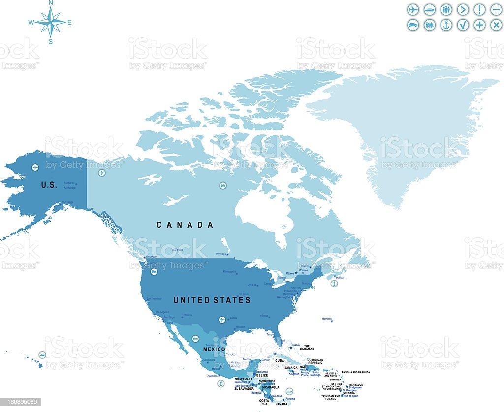 North America royalty-free stock vector art