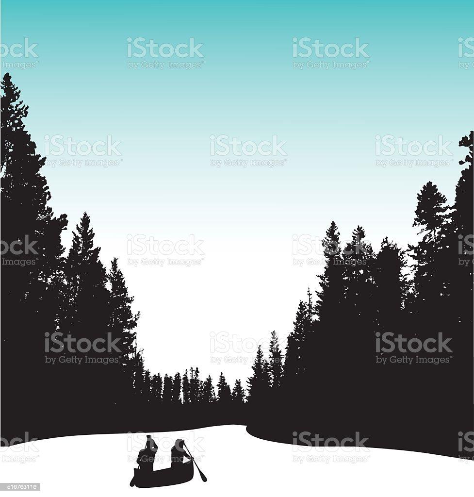 North American River vector art illustration